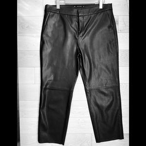 Zara women's cropped faux leather pants.
